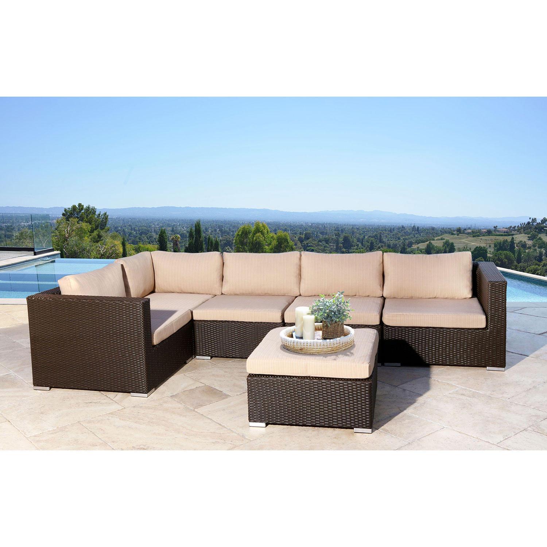 Francisco Outdoor Wicker Modular Patio Sectional Sofa