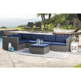 Francisco Outdoor Wicker Modular Patio Sectional (Various Colors)