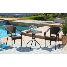 Amelia 3-Piece Outdoor Bistro Set