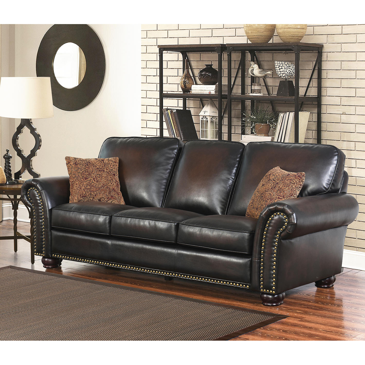 Abbyson Mac Hand Rubbed Leather Sofa