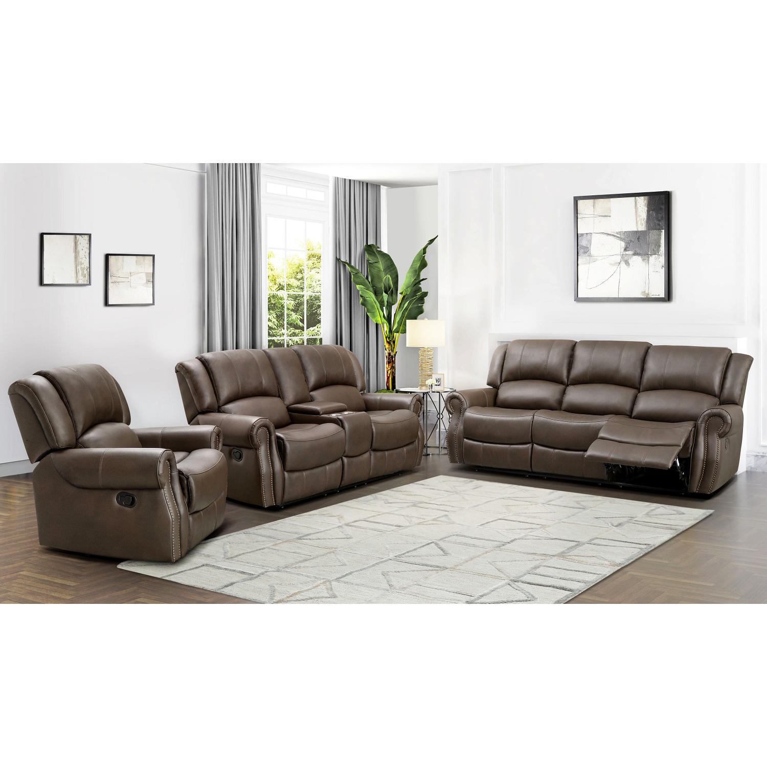 Harvest Reclining Sofa Loveseat and Chair Set