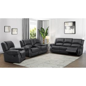 Harvest Reclining Sofa, Loveseat and Chair Set--Various Colors