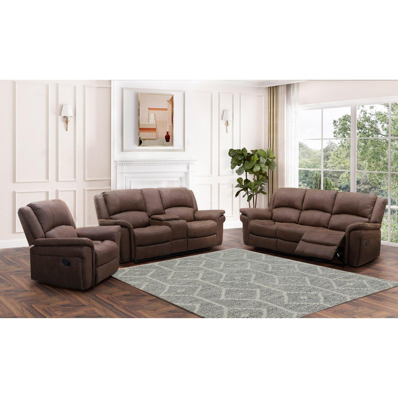 Thomas 3-Piece Fabric Reclining Sofa Set (SHF-12255BRN-3P)