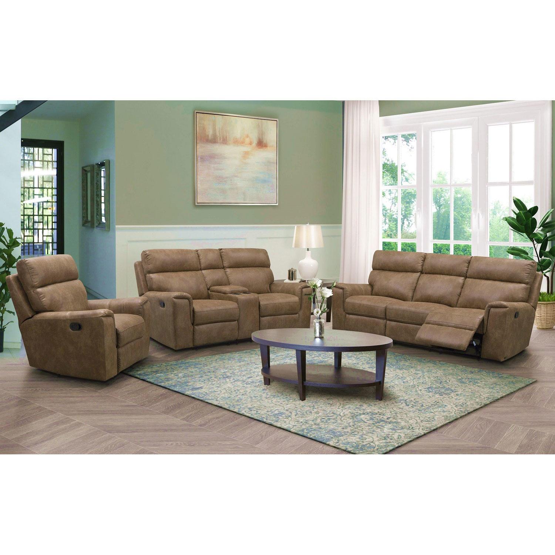 Denver Fabric 3-Piece Reclining Sofa Set