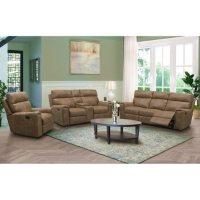 Denver Fabric 3-Piece Reclining Sofa Set, Assorted Colors