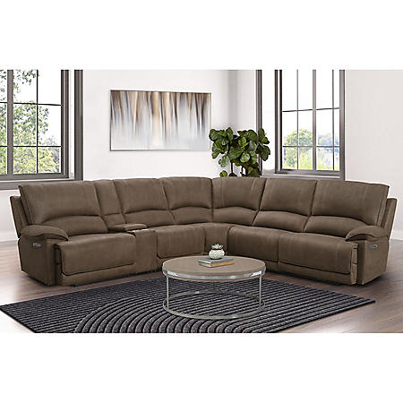 Brooks 6-Piece Power Reclining Fabric Sectional, (Assorted Colors)