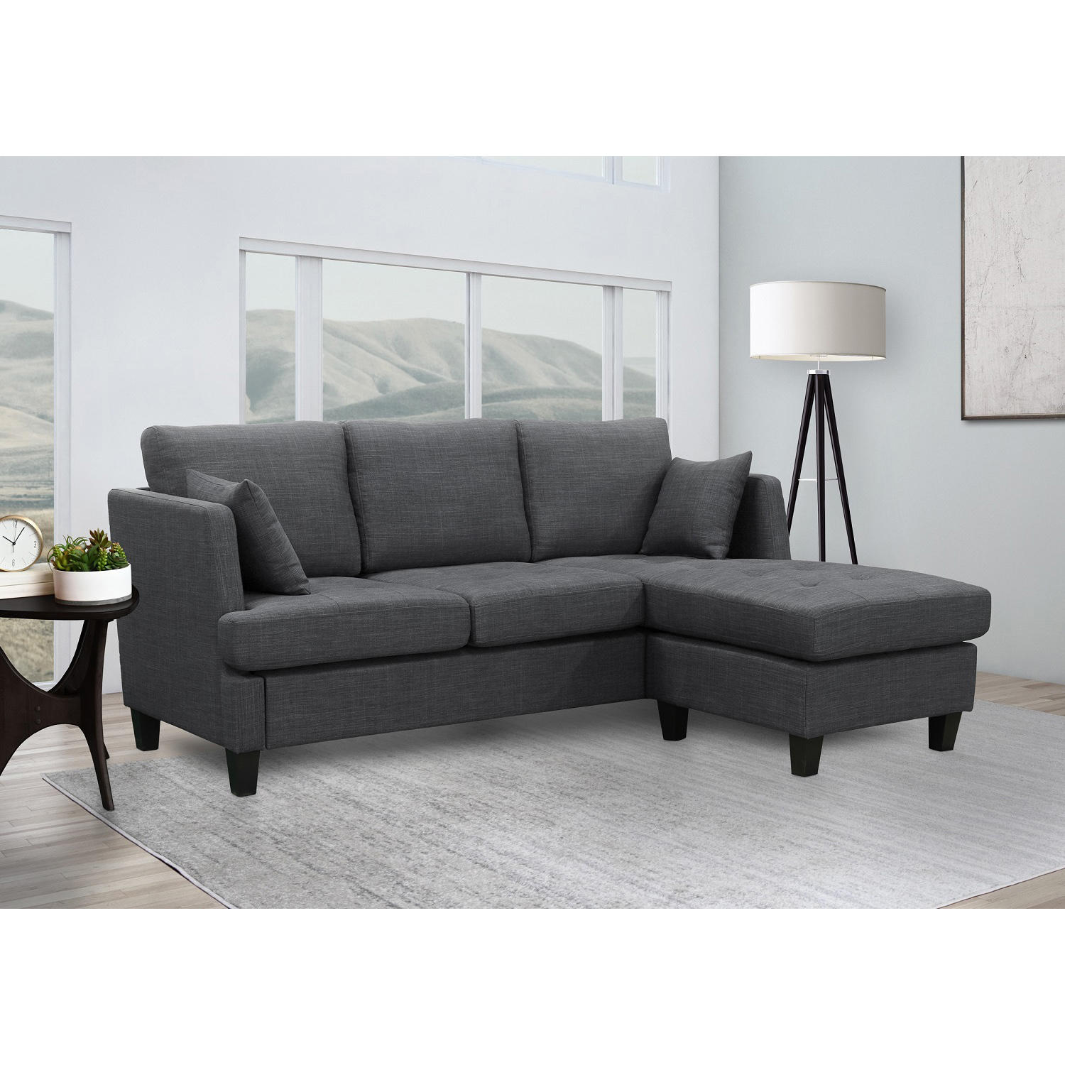 Lily Fabric Sectional Sofa