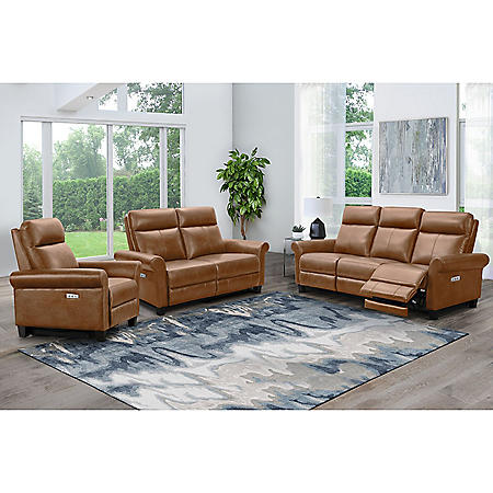 Wilshire Power Reclining Sofa, Loveseat and Armchair, Assorted Colors