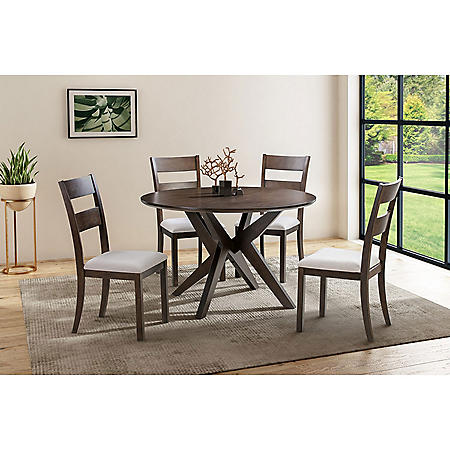 Melania 5-Piece Wood Dining Set, Assorted Colors