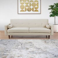 Laura Velvet Fabric Sofa with Pillows, Assorted Colors