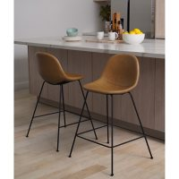 Oliver Faux Leather Bar Stool, Set of 2 (Assorted Colors)