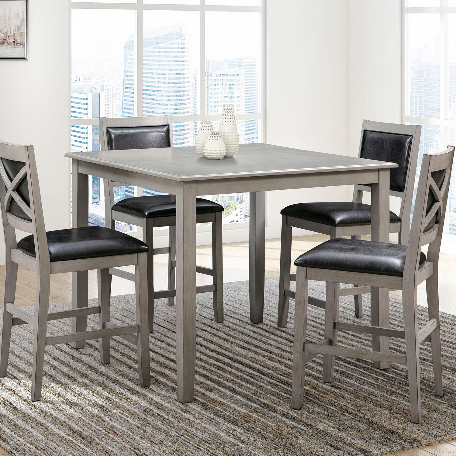 Abbyson Living Rory 5-Piece Counter Height Wood Dining Set