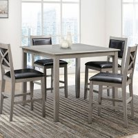 Rory 5-Piece Counter Height Wood Dining Set