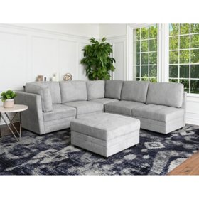 Rory Fabric 6-Piece Modular Sectional