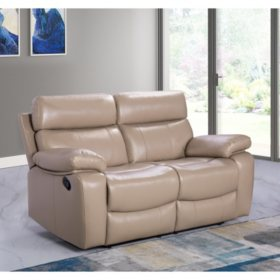 Tremendous Strafford Top Grain Leather Reclining Loveseat Sams Club Gmtry Best Dining Table And Chair Ideas Images Gmtryco