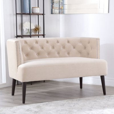 Abbyson Living Andrea Tufted Velvet Settee (Assorted Colors)