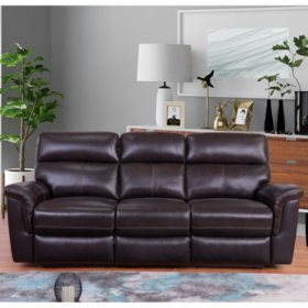 Amazing Franklin Top Grain Leather 3 Piece Reclining Sofa Loveseat Ncnpc Chair Design For Home Ncnpcorg