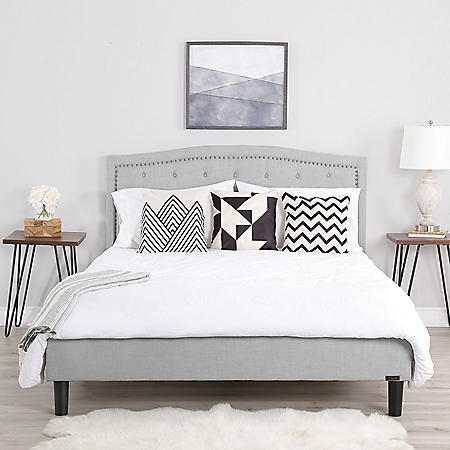 Juliette Queen Tufted Platform Bed, Assorted Colors