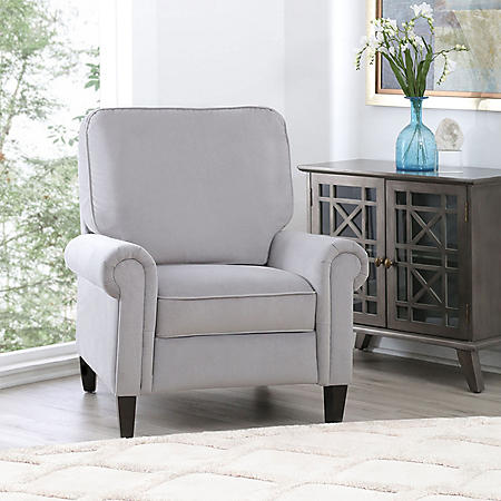 Bonnie Pushback Reclining Chair, Gray