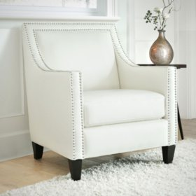 Alisa Nailhead Accent Chair (Assorted Colors)