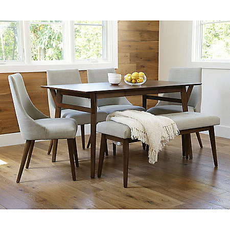 Ashfield Mid-Century Wooden Dining Set (Assorted Sizes)
