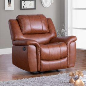 Syracuse Top Grain Leather Reclining Armchair
