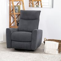 Deals on Jewel Fabric Swivel Recliner