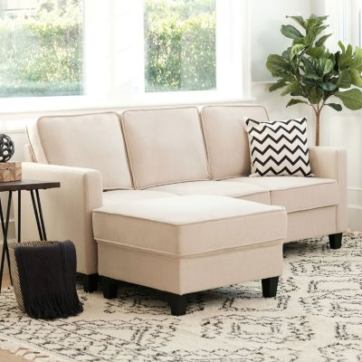 Enjoyable Princeton Fabric Sofa And Ottoman Set Assorted Colors Gmtry Best Dining Table And Chair Ideas Images Gmtryco