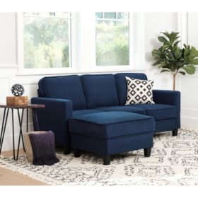 Princeton Fabric Sofa and Ottoman Set (Assorted Colors)