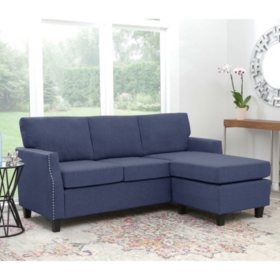Carter Reversible Fabric Sectional, Assorted Colors