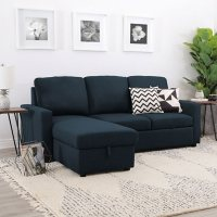 SamsClub deals on Lincoln Fabric Reversible Storage Sectional with Pullout Bed