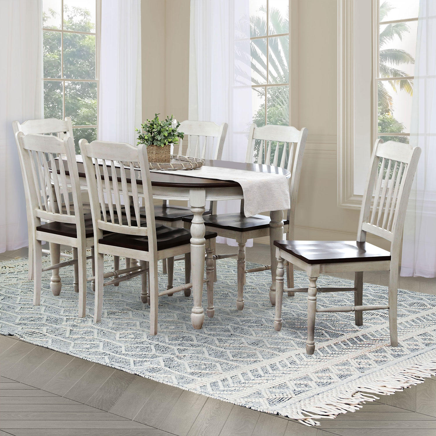 Abbyson Living 7-Pieces Mila Dining Set
