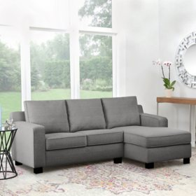 Beverly Gray Fabric Sectional, Assorted Colors