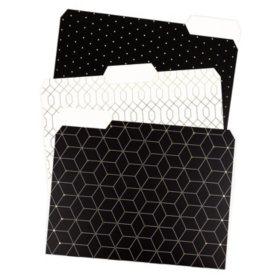 U Brands Modern Classic Fashion File Folders, 24-pack, 1/3 cut