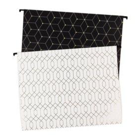 U Brands Modern Classic Fashion Hanging File Folders, Letter Size, 12-pack