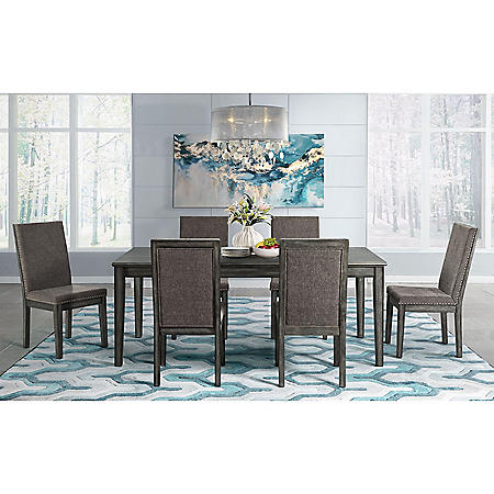 Society Den Austin 7-Piece Dining Set, Table & Six Chairs