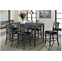 Society Den Alexa 7PC Counter Height Dining Set, Grey