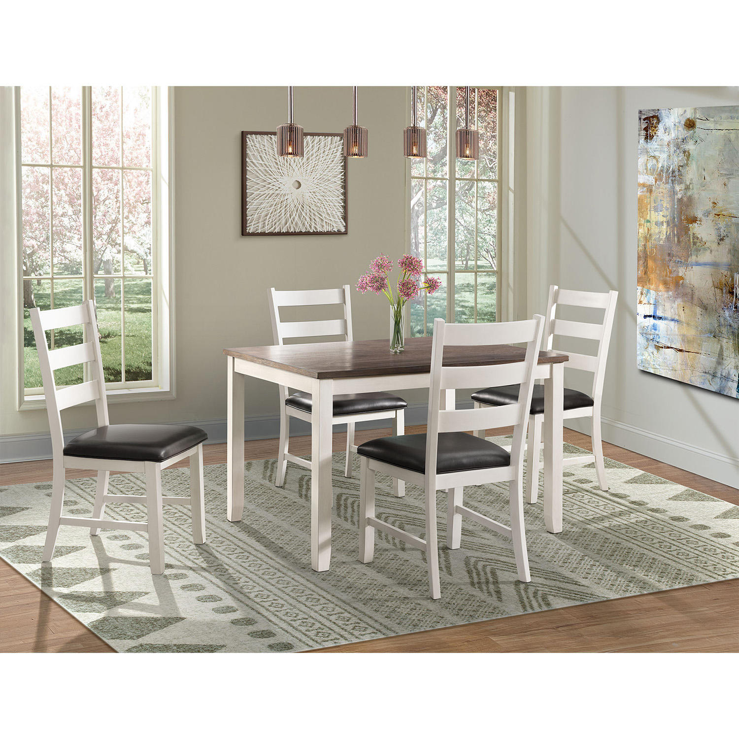 Society Den Kona 5-Piece Dining Set (Multiple Options)