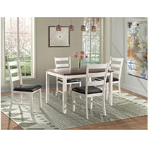 Kona Brown 5PC Dining Set-Table & Four Chairs