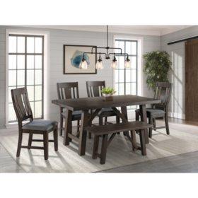 Society Den Carter 6-Piece Dining Set