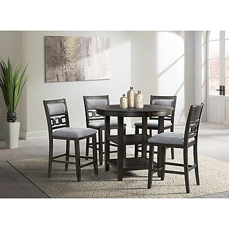 Society Den Taylor 5-Piece Dining Set (Choose Height & Color)