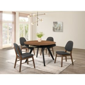 Society Den Kellan 5-Piece Dining Set, Table and Four Side Chairs