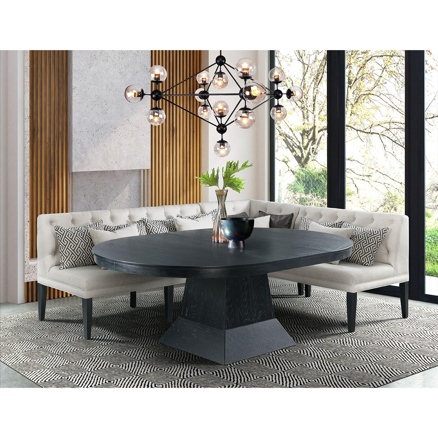 Society Den Mara 4-Piece Oval Dining Table Set