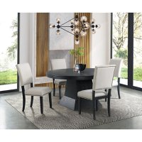 Society Den Mara Oval Dining Table Set with Four Side Chairs