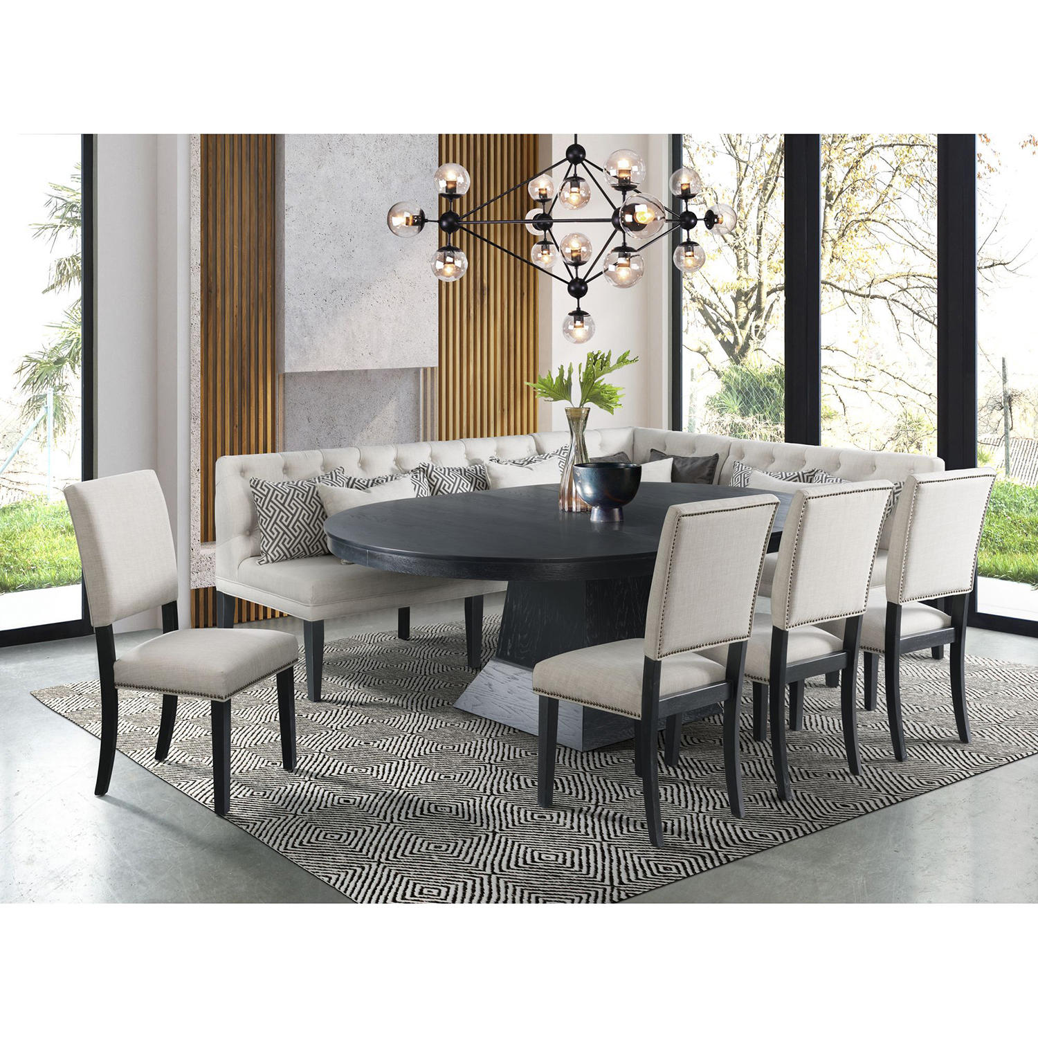 Society Den Mara 8-Piece Oval Dining Set