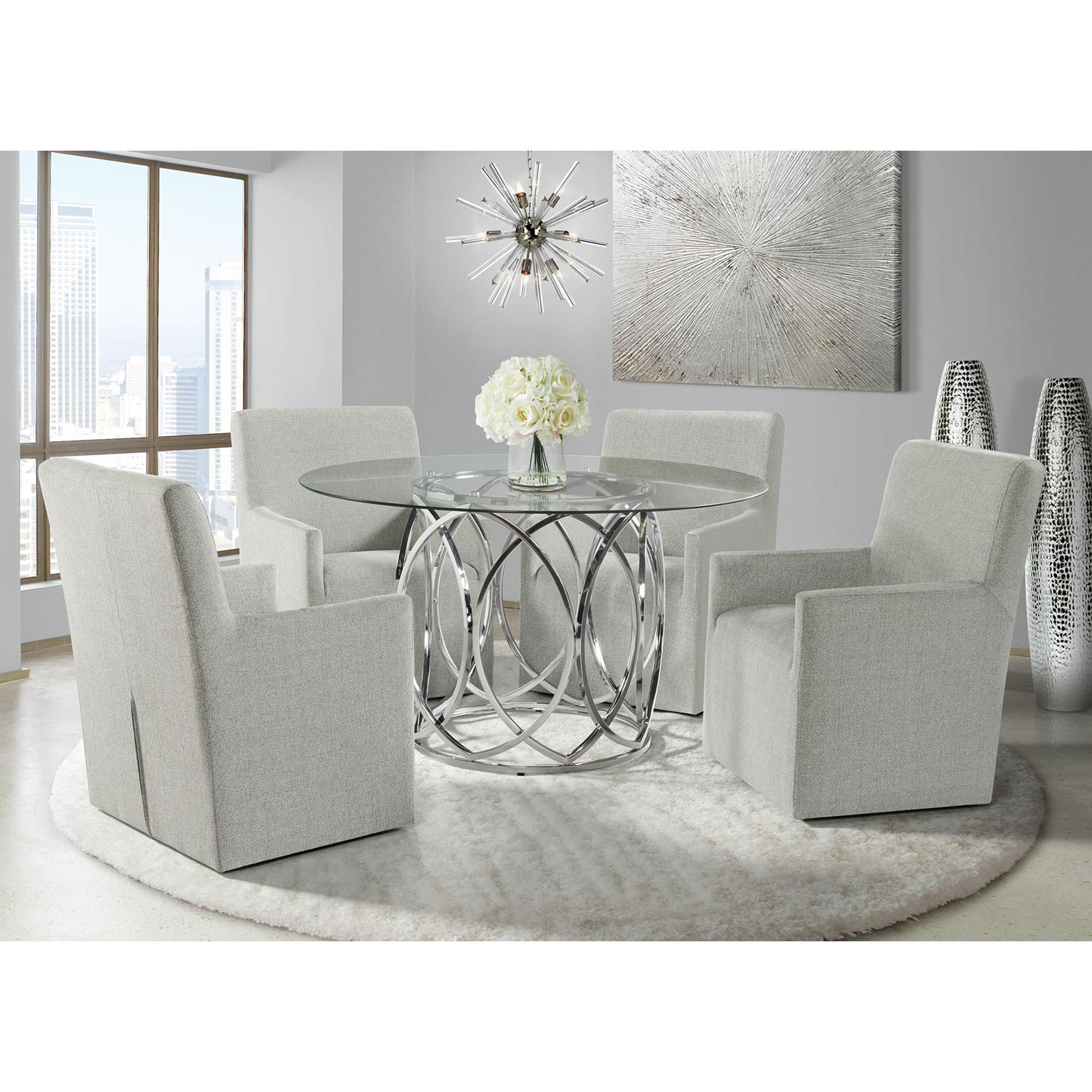 Society Den Marcy Standard Height 5-Piece Dining Set