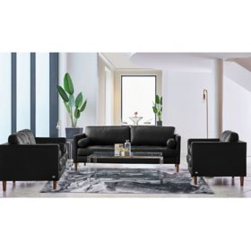 Society Den Sire 3-Piece Living Room Set, Assorted Colors