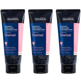 Mediheal Charcoal Intensive Pore Clean Cleansing Foam (3 pk.)