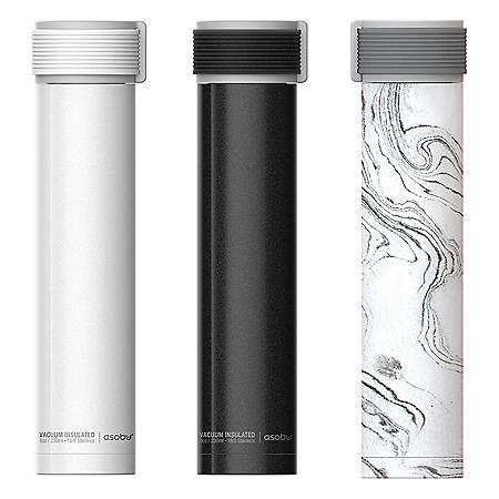 Asobu 8-oz. Skinny Mini Ultimate Flask, 3 Pack (Assorted Colors)
