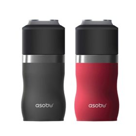 Asobu Tall Boy Kuzie Beverage Holder, 2 Pack (Assorted Colors)